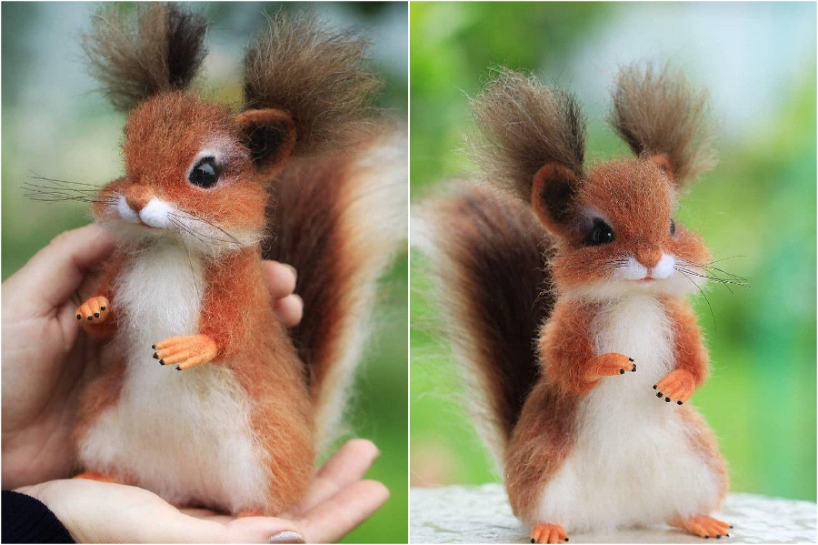 Adorable squirrel | Super Realistic And Extra Cute Felt Animals By Russian Artist | Brain Berries