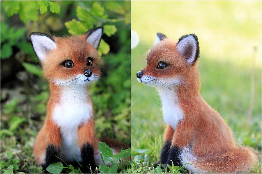 Sly little red fox | Super Realistic And Extra Cute Felt Animals By Russian Artist | Brain Berries