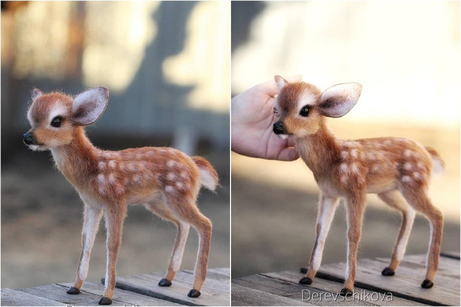 Little fawn Bambi | Super Realistic And Extra Cute Felt Animals By Russian Artist | Brain Berries