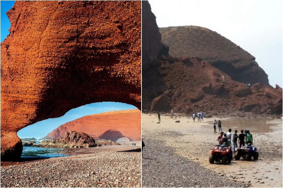 Rock Archways at Legzira Beach, Morocco  | The Historical Sights We Lost In The Last 5 Years | BrainBerries