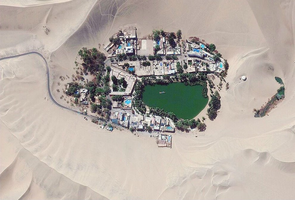 Huacachina | 11 Mind-Bending Things That Can Be Seen Only From Space | Zestradar