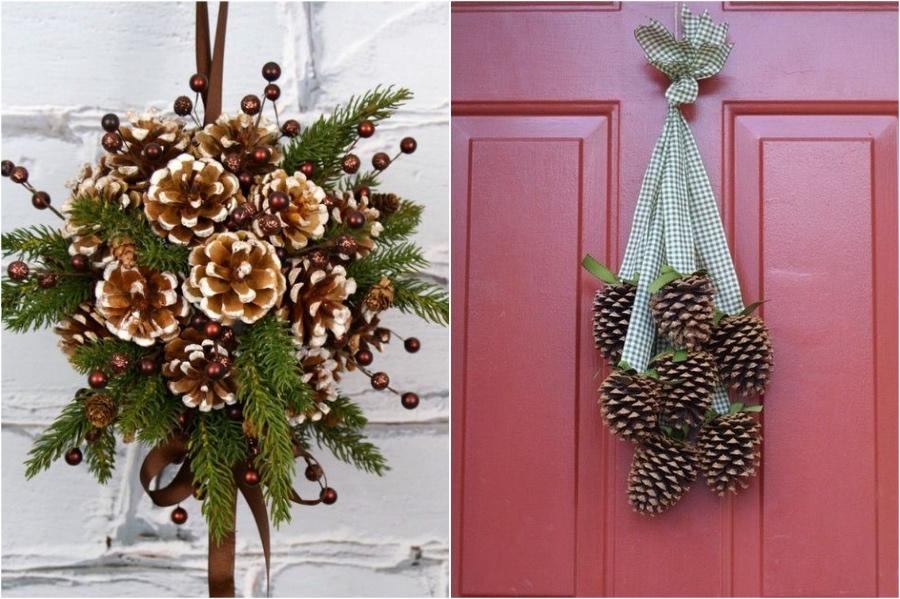Alternative Pinecone Door Decor | 10 Pinecone DIYs To Try This Christmas | Zestradar