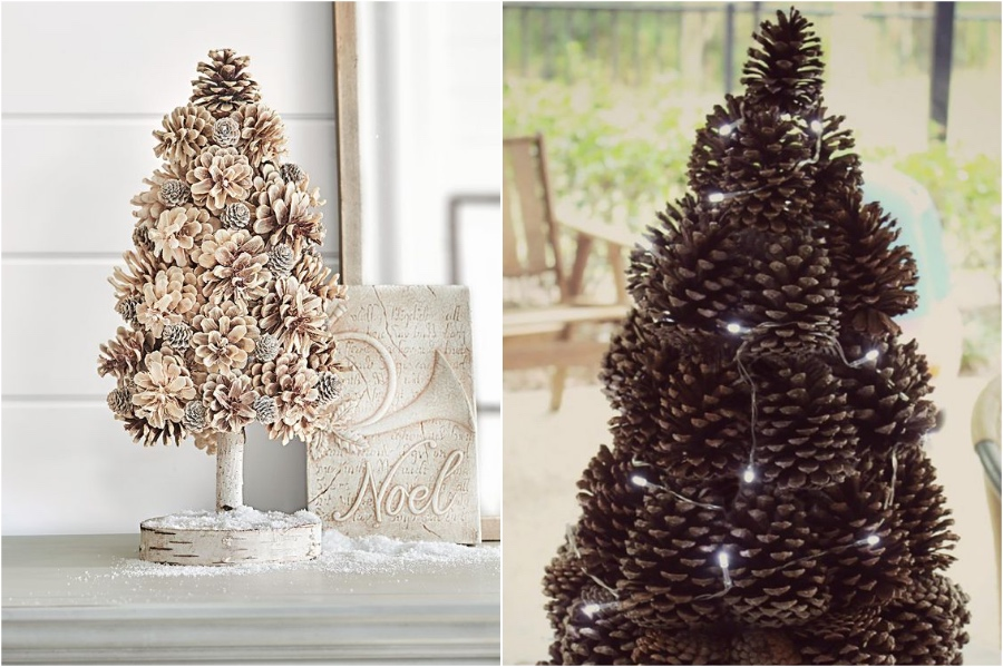 Pinecone Christmas Tree | 10 Pinecone DIYs To Try This Christmas | Zestradar