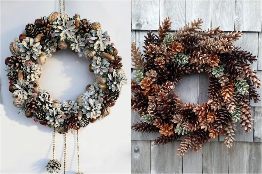 Pinecone Wreath | 10 Pinecone DIYs To Try This Christmas | Zestradar