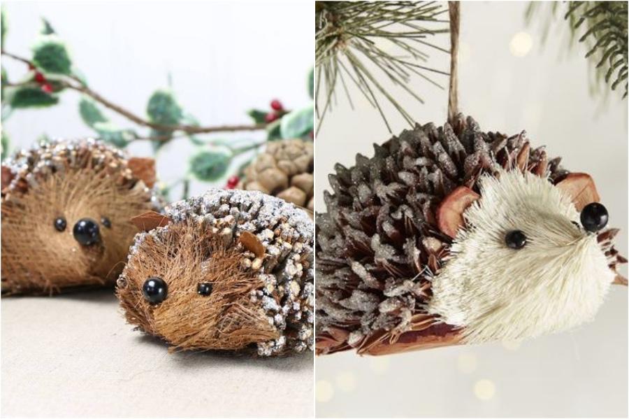 Pinecone Hedgehogs | 10 Pinecone DIYs To Try This Christmas | Zestradar