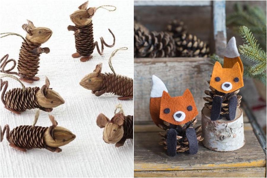 Pinecone Animals | 10 Pinecone DIYs To Try This Christmas | Zestradar
