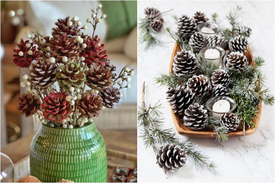 Pinecone Centerpiece | 10 Pinecone DIYs To Try This Christmas | Zestradar