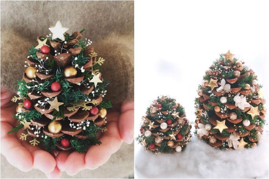 Pinecone Mini Tree | 10 Pinecone DIYs To Try This Christmas | Zestradar