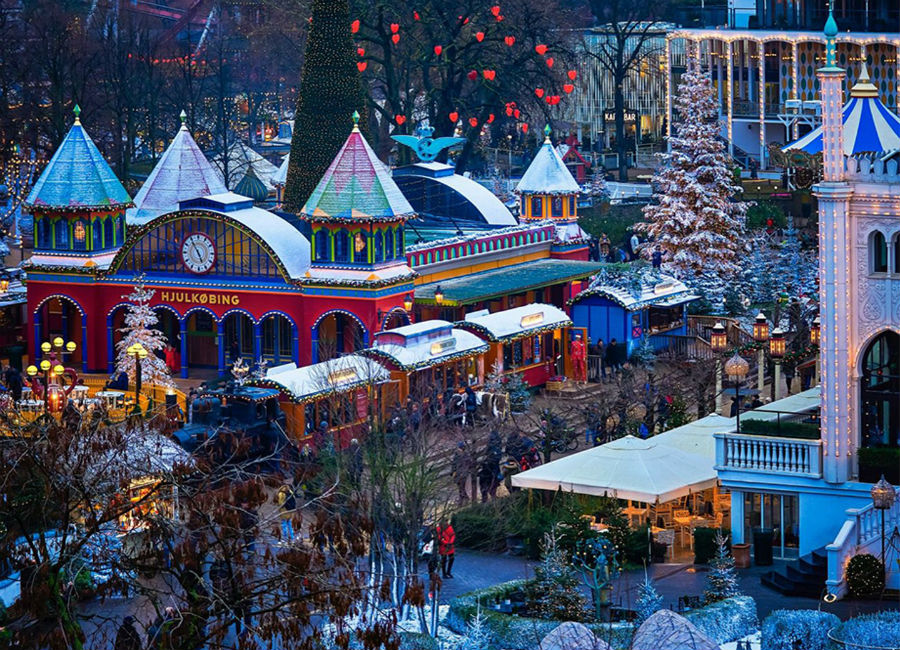 Tivoli Christmas Market, Copenhagen, Denmark | 7 Christmassy Villages In Europe | Zestradar