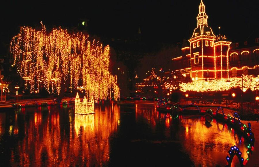 Tivoli Gardens, Copenhagen, Denmark | 10 Best Christmas Light Displays Around The World | Zestradar