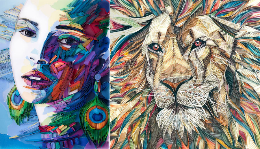 Artist Reveals The Secrets Of Her 'Painting With Paper' Technique And We Are Seriously Impressed | Zestradar
