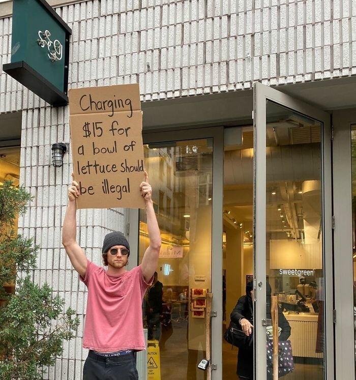 drole: gars proteste