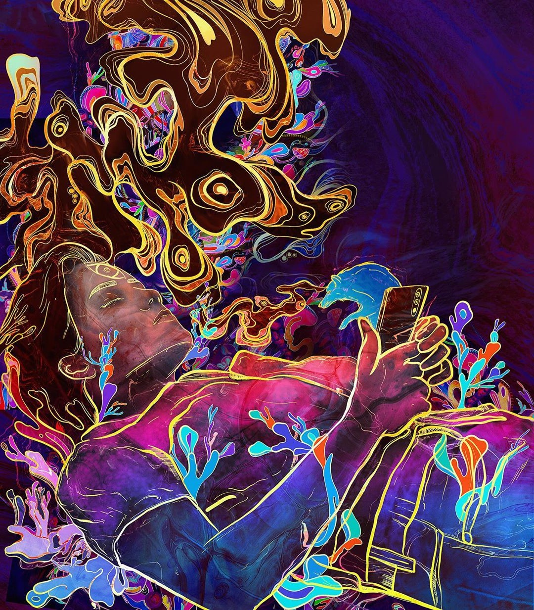 4. Archan Nair | 8 Insanely Psychedelic Must-Follow Instagram Artists | Brain Berries