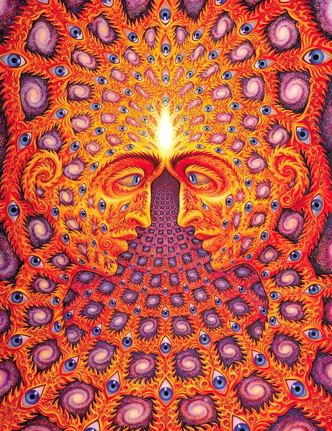 3. Alex Grey | 8 Insanely Psychedelic Must-Follow Instagram Artists | Brain Berries