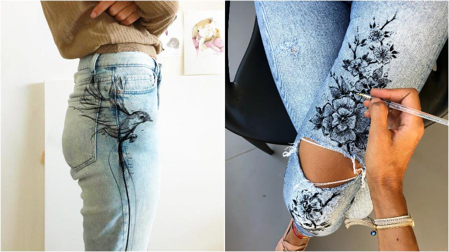 #3 | Randa Haddadin Creates An Amazing Art By Drawing On Her Jeans And Body | Zestradar