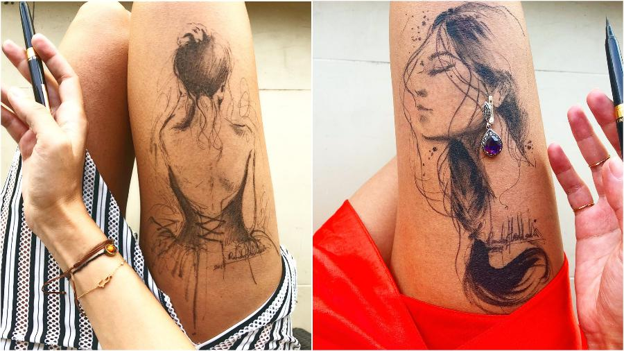 #4 | Randa Haddadin Creates An Amazing Art By Drawing On Her Jeans And Body | Zestradar