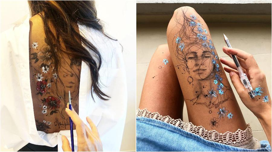 #5 | Randa Haddadin Creates An Amazing Art By Drawing On Her Jeans And Body | Zestradar