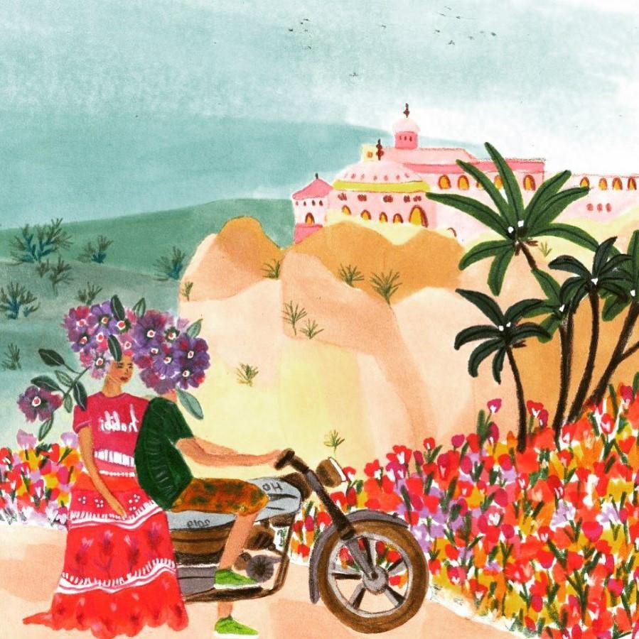 #1 | East Meets West In Colorful Feminine Works Of Roeqiya Fris | Zestradar