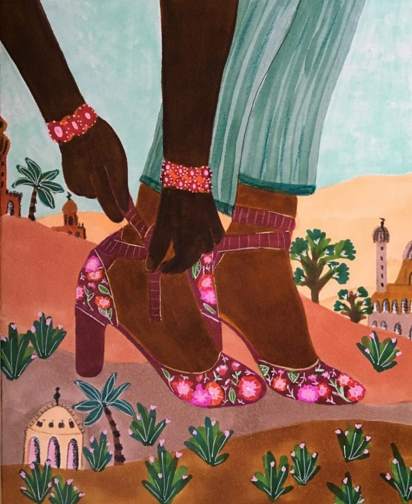 #2 | East Meets West In Colorful Feminine Works Of Roeqiya Fris | Zestradar