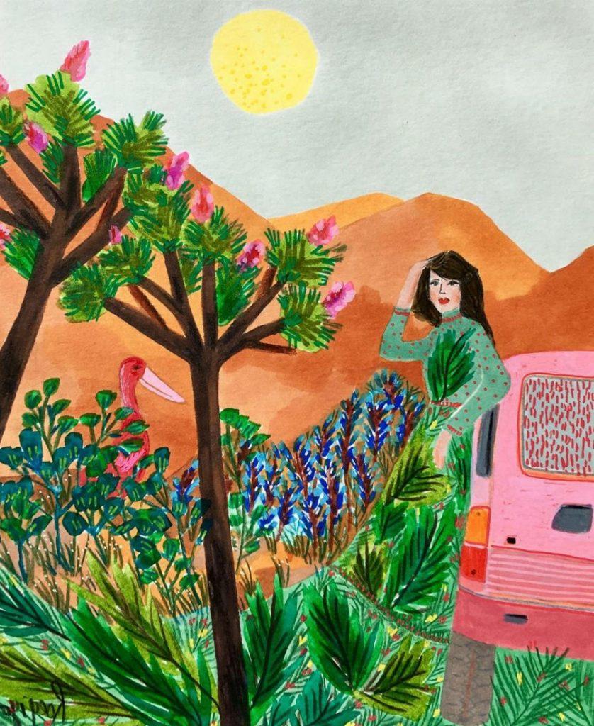#4 | East Meets West In Colorful Feminine Works Of Roeqiya Fris | Zestradar