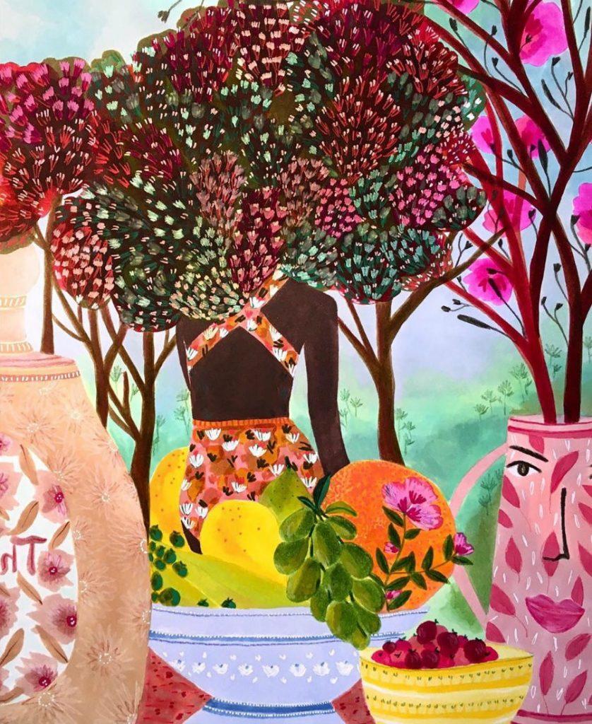 #5 | East Meets West In Colorful Feminine Works Of Roeqiya Fris | Zestradar