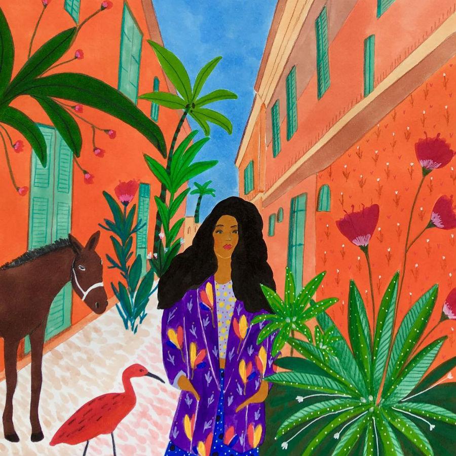 #6 | East Meets West In Colorful Feminine Works Of Roeqiya Fris | Zestradar
