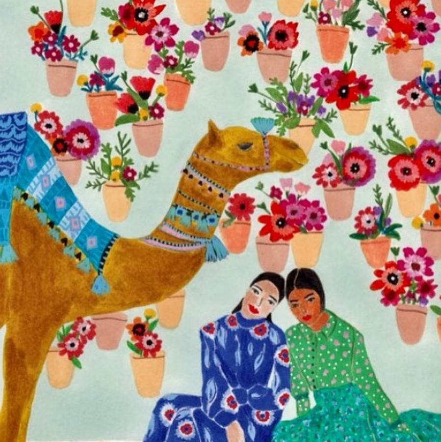 #7 | East Meets West In Colorful Feminine Works Of Roeqiya Fris | Zestradar