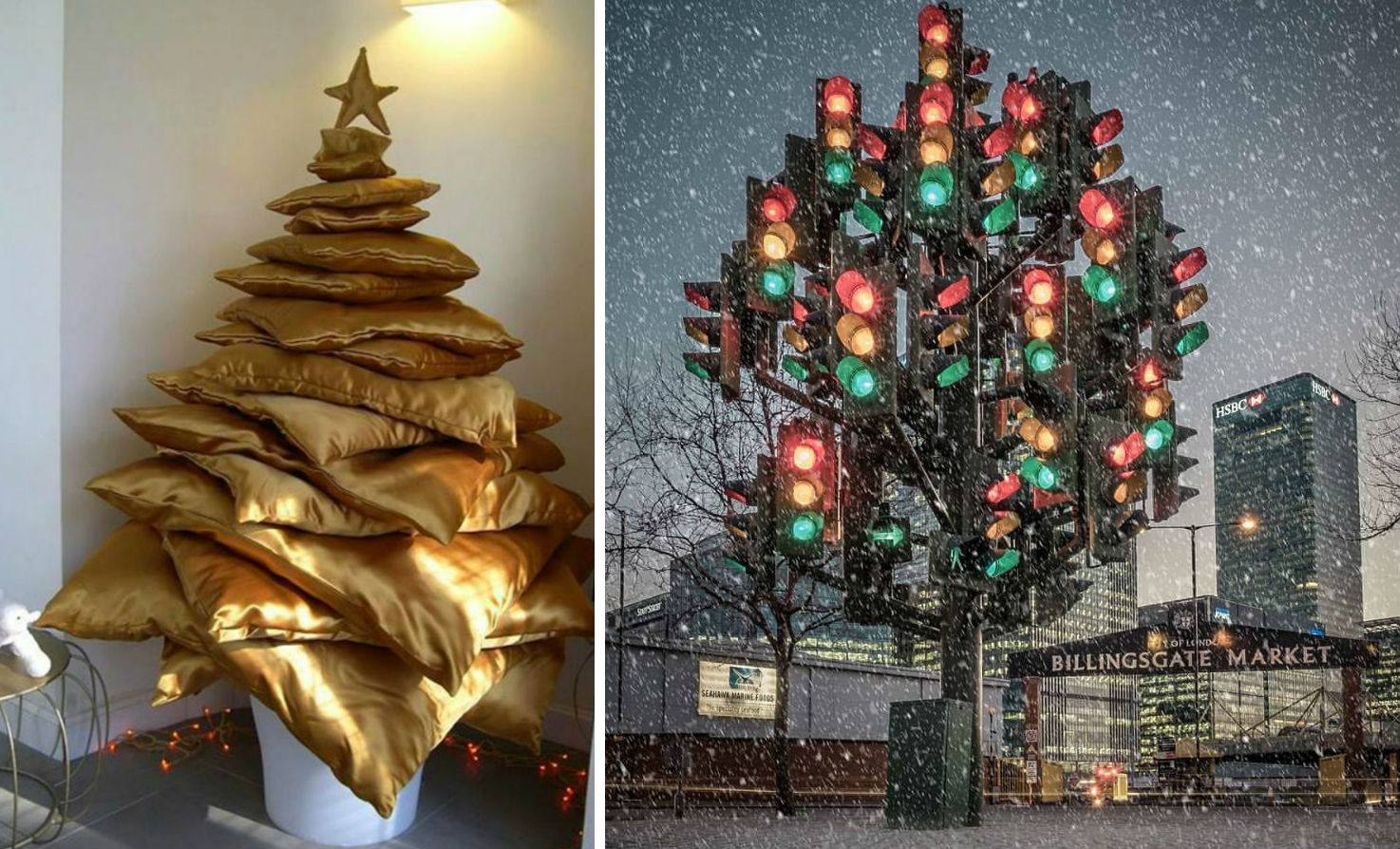 From Pillows To Lost & Found Items: The Coolest And Weirdest Christmas Trees You've Seen So Far | Zestradar