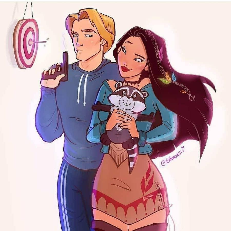 Pocahontas   6 Disney Relationships Beautifully Reimagined   Zestradar