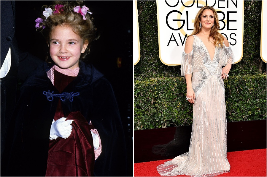 Drew Barrymore | What Stars Looked Like at Their First Red Carpet | Zestradar