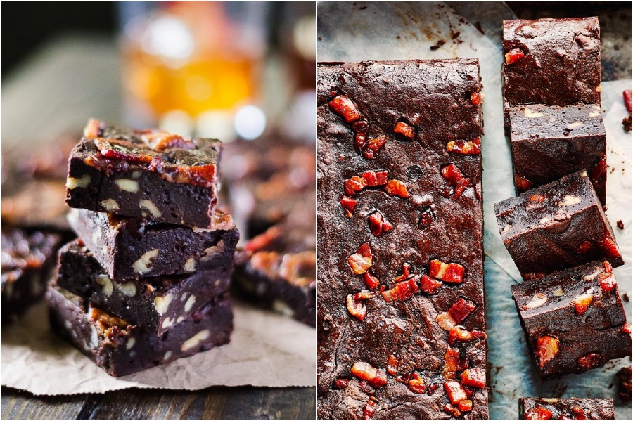 Maple Bacon Fudge Brownies | 12 Surprising Ways To Add More Bacon Into Your Life | Zestradar