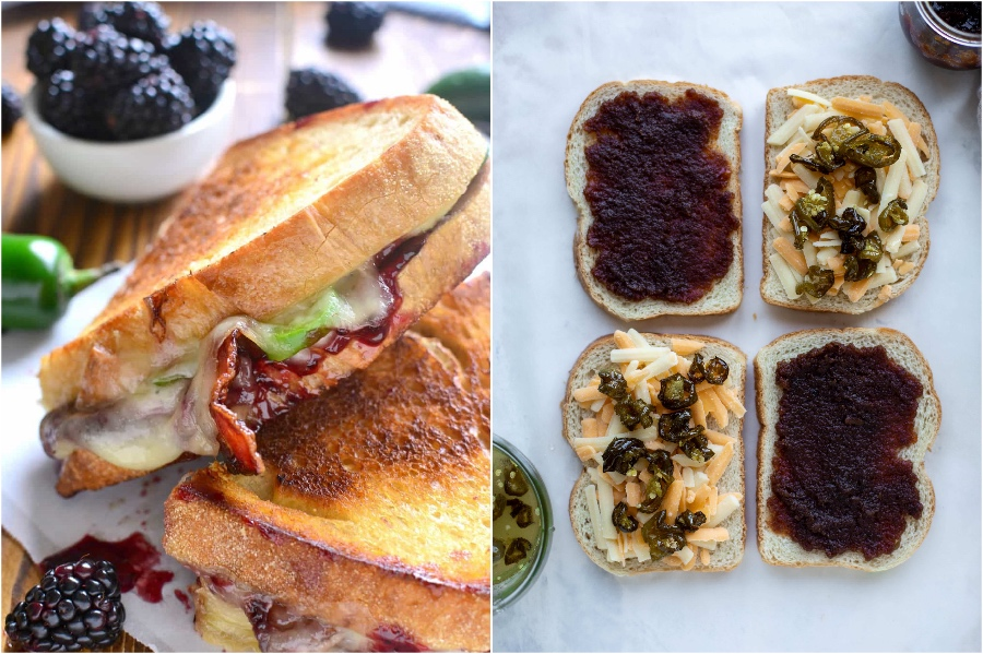 Candied Jalapeno Bacon Grilled Cheese | 12 Surprising Ways To Add More Bacon Into Your Life | Zestradar