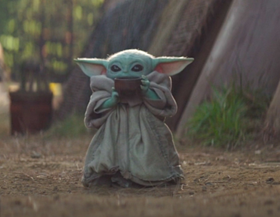 Baby Yoda and his soup | Why We Are So Helpless In The Face Of Baby Yoda | Zestradar