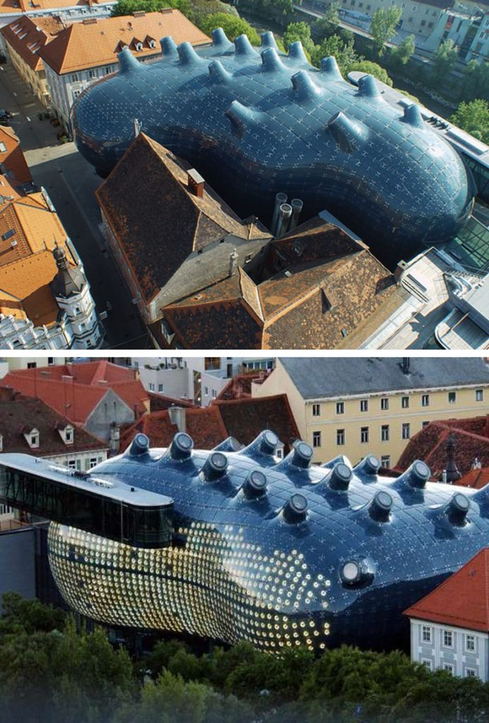 The Kunsthaus Graz in Graz, Austria | 8 Incredible Buildings That Look Like Something From A Parallel Universe | Zestradar