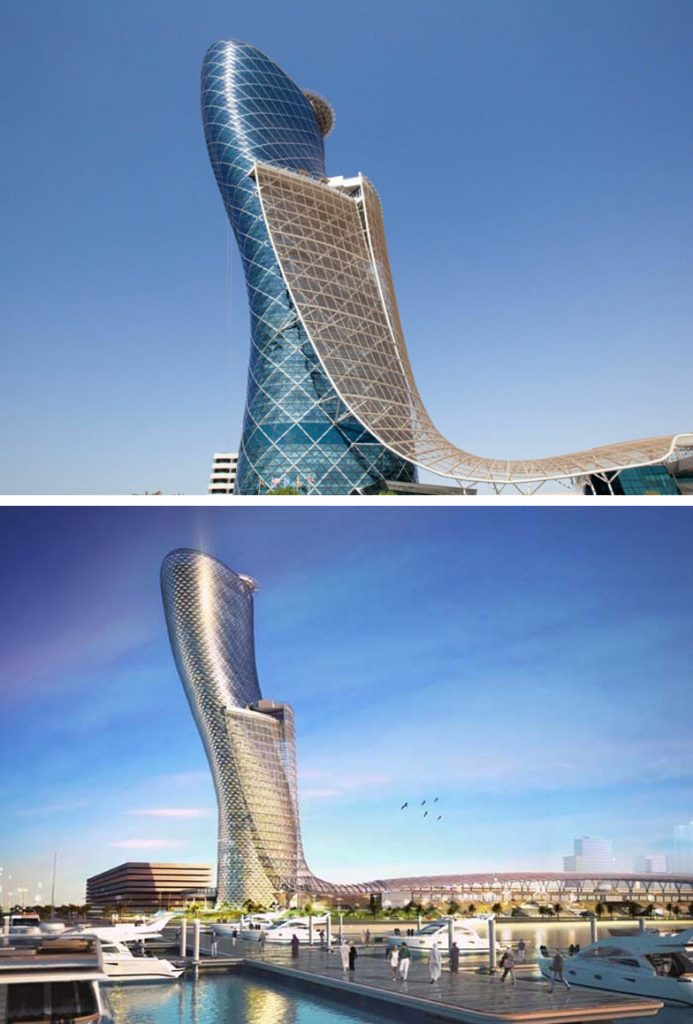 Capital Gate (Abu Dhabi, UAE) | 8 Incredible Buildings That Look Like Something From A Parallel Universe | Zestradar