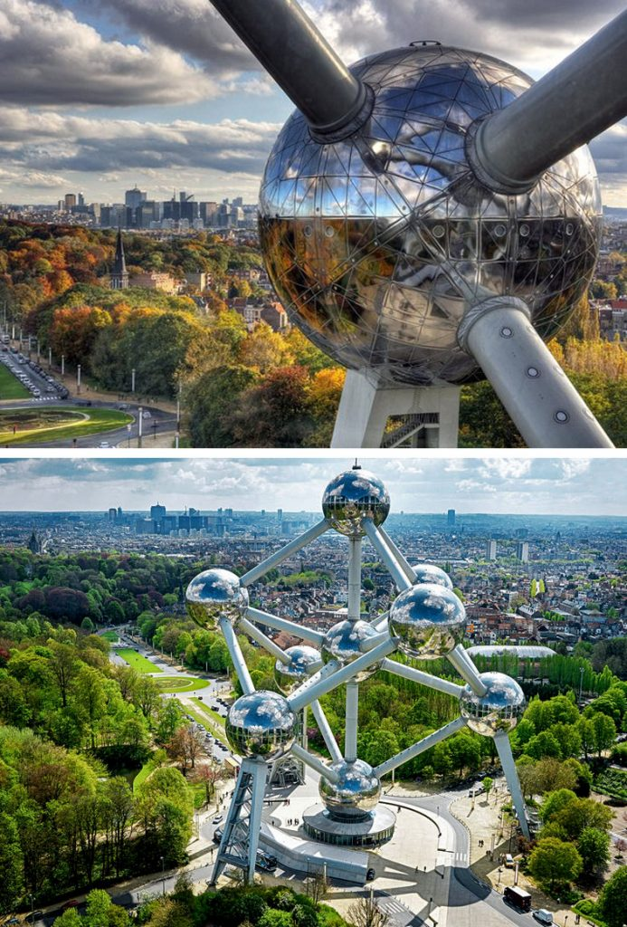The Atomium (Brussels, Belgium) | 8 Incredible Buildings That Look Like Something From A Parallel Universe | Zestradar