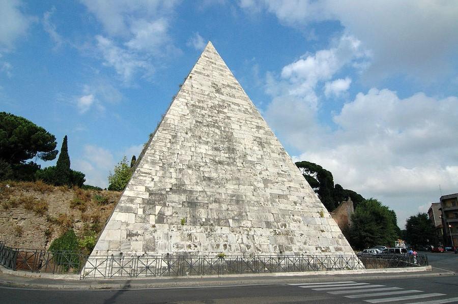 Pyramid of Cestius | 7 Ancient Pyramids Around The World | Zestradar