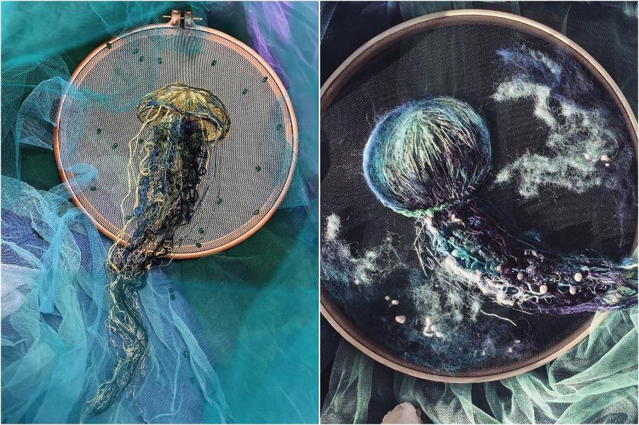 Boundary Breaking Jellyfish Embroidery | Zestradar