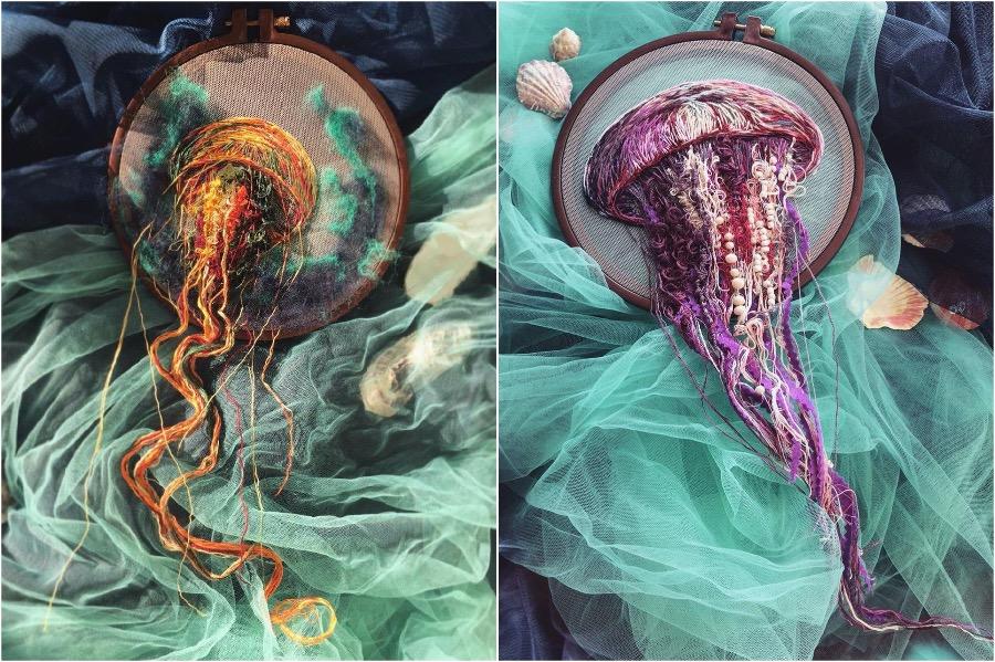 Boundary Breaking Jellyfish Embroidery #2 | Zestradar
