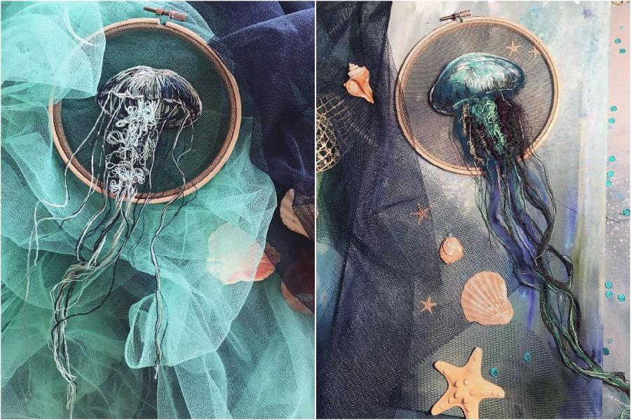 Boundary Breaking Jellyfish Embroidery #3 | Zestradar