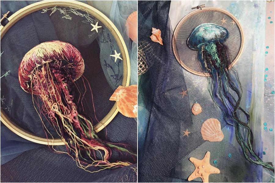 Boundary Breaking Jellyfish Embroidery #4 | Zestradar