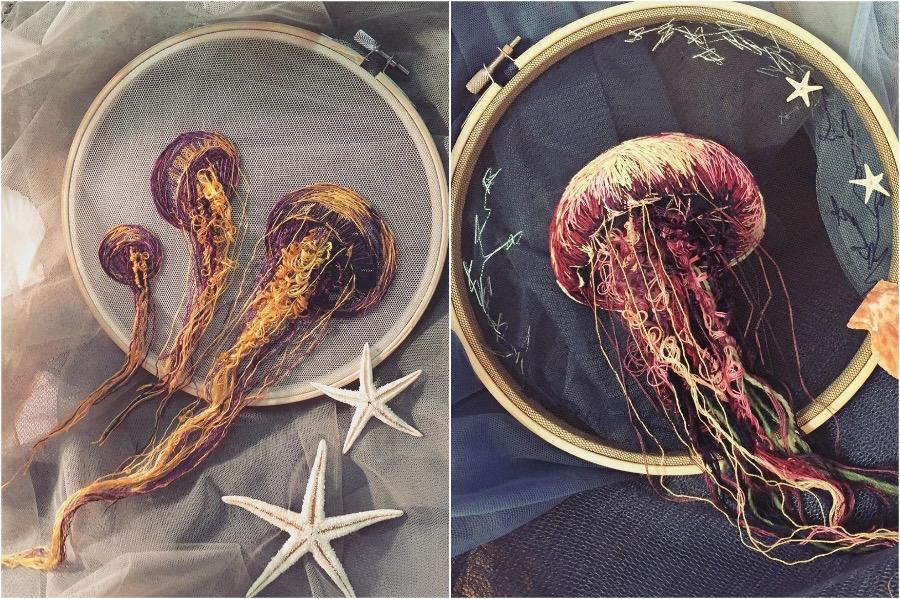 Boundary Breaking Jellyfish Embroidery #5 | Zestradar