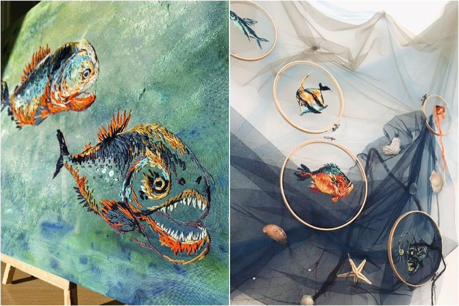 Boundary Breaking Jellyfish Embroidery #6   Zestradar