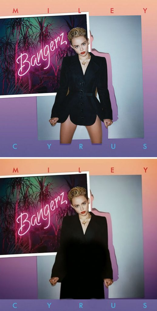 Miley Cyrus | West vs. Middle-East: 6 Album Covers That Transformed Beyond Recognition | Zestradar