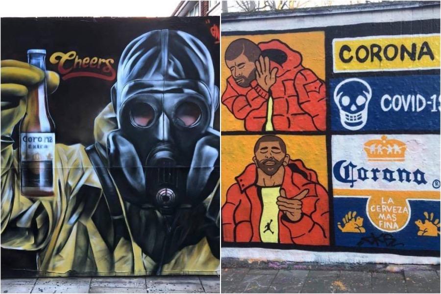 COVID-19 Graffiti Art From Around The Globe   Brain Berries
