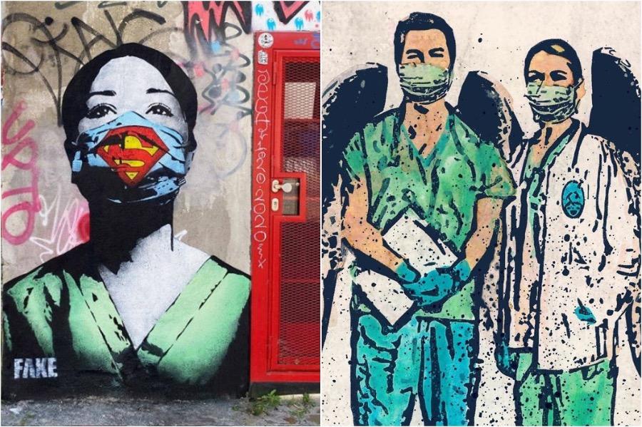 COVID-19 Graffiti Art From Around The Globe #2   Brain Berries
