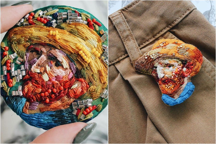 #1 | Embroidery Brooches Van Gough Would Be Impressed By | Gammicks.com