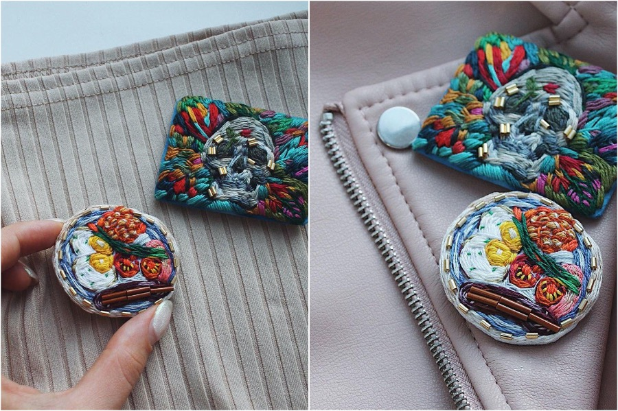 #10 | Embroidery Brooches Van Gough Would Be Impressed By | Gammicks.com