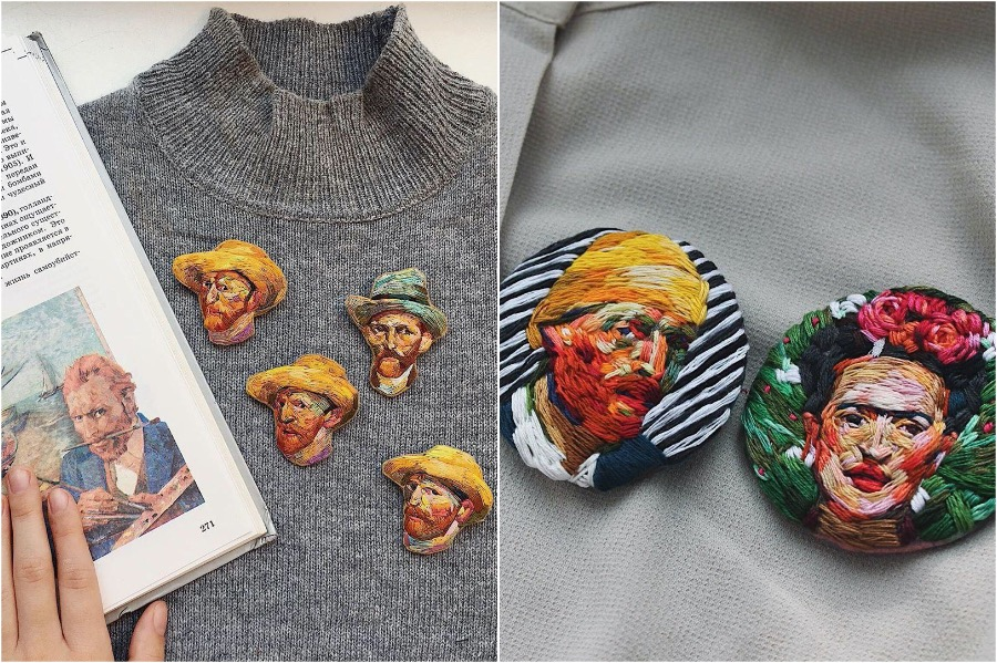 #12 | Embroidery Brooches Van Gough Would Be Impressed By | Gammicks.com