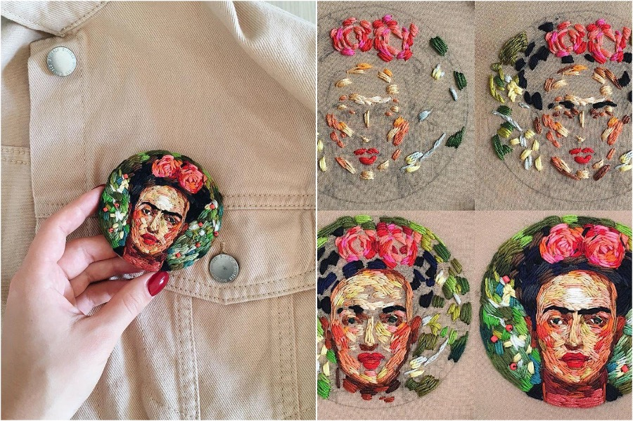 #2 | Embroidery Brooches Van Gough Would Be Impressed By | Gammicks.com